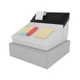 Caja registradora aislada en blanco Fotografía de archivo libre de regalías
