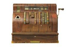 Caja registradora de antaño en una tienda. Fotografía de archivo