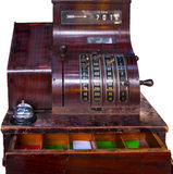 Caja registradora de antaño Fotos de archivo