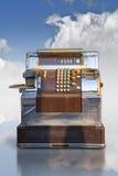 Caja registradora de la comercialización Foto de archivo libre de regalías