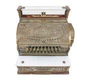 Caja registradora del vintage aislada con la trayectoria de recortes Imágenes de archivo libres de regalías