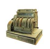 Caja registradora manivela-funcionada antigüedad Imágenes de archivo libres de regalías