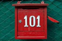Caja roja Fotos de archivo