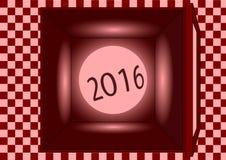 Caja roja 2016 Fotos de archivo libres de regalías
