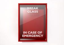 Caja roja de la rotura en caso de urgencia ilustración del vector