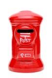 Caja roja de los posts del juguete Foto de archivo libre de regalías