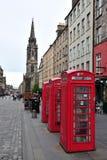 Caja roja del teléfono Fotografía de archivo libre de regalías