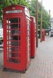 Caja roja del teléfono en Liverpool Fotos de archivo
