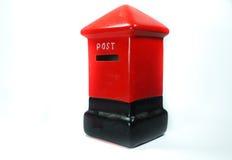 Caja roja modelo de los posts Imagen de archivo libre de regalías