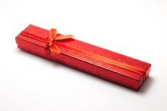 Caja roja para la joyería Imagen de archivo