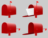 Caja roja Vector Fotos de archivo