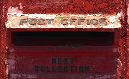Caja roja vieja Foto de archivo