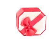 Caja roja y blanca Imágenes de archivo libres de regalías