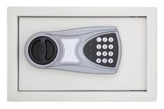 Caja segura de acero delantera del código numérico fotografía de archivo
