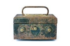 Caja segura negra vieja Imagen de archivo libre de regalías