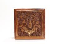 Caja tallada de madera Fotos de archivo libres de regalías