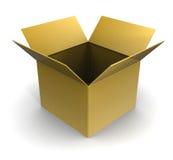 Caja vacía Fotografía de archivo libre de regalías