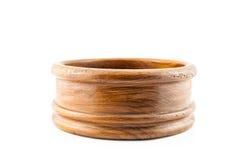 Caja vacía de madera redonda Imagen de archivo libre de regalías