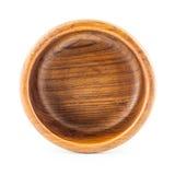 Caja vacía de madera redonda Fotografía de archivo