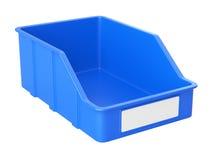 Caja vacía del plastick para las piezas Imágenes de archivo libres de regalías