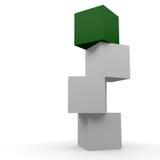 Caja verde Imágenes de archivo libres de regalías