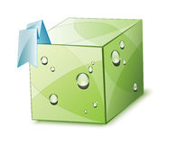 Caja verde del eco Fotos de archivo libres de regalías