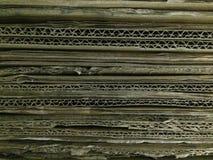 Caja vieja del cartón de papel Fotografía de archivo