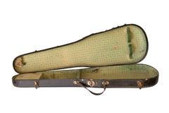 Caja vieja del violín imagen de archivo