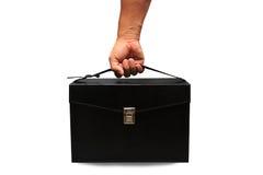 Caja y recurso seguro del equipo de primeros auxilios para el caso de emergencia Caja del equipo de primeros auxilios y medicina  Fotografía de archivo