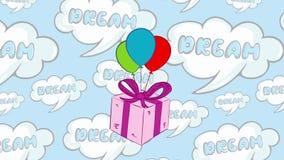 Caja y sueños de regalo rosada libre illustration