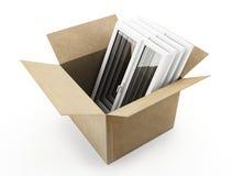 Caja y ventanas de cartón libre illustration