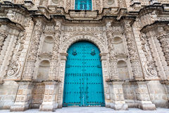Cajamarca Cathedral Facade Royalty Free Stock Image