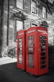 Cajas británicas del teléfono Fotografía de archivo libre de regalías