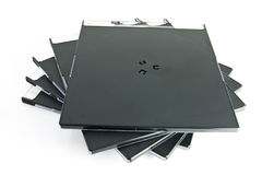 Cajas CD Fotografía de archivo libre de regalías