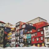 Cajas coloreadas de la costa de Ribeira Imagen de archivo libre de regalías