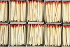 Cajas con los partidos Imagen de archivo