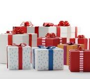Cajas 3d-illustration de los presentes de los regalos Imágenes de archivo libres de regalías