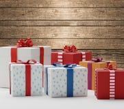 Cajas 3d-illustration de los presentes de los regalos Imagen de archivo libre de regalías