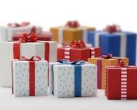 Cajas 3d-illustration de los presentes de los regalos Imagenes de archivo