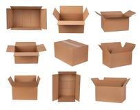 Cajas de cartón Fotografía de archivo