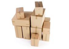 Cajas de cartón Fotos de archivo