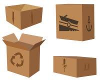 Cajas de cartón ilustración del vector