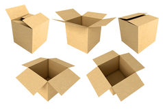 Cajas de cartón 3d Imagen de archivo