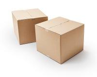 Cajas de cartón Imágenes de archivo libres de regalías