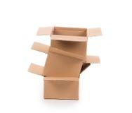 Cajas de cartón Foto de archivo libre de regalías