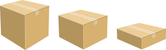 Cajas de cartón Imagenes de archivo