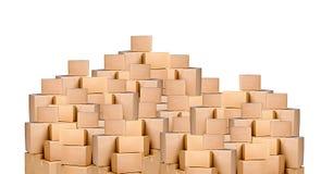Cajas de cartón Foto de archivo