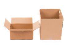 Cajas de cartón abiertas Imagen de archivo