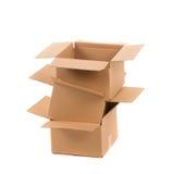 Cajas de cartón abiertas Foto de archivo