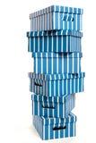 Cajas de cartón en una pila Fotos de archivo